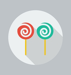 Christmas Flat Icon Lollipop vector