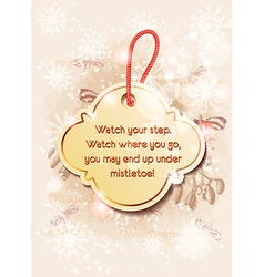 Christmas sticker with snow flake vector