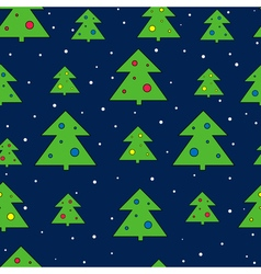 Christmas tree and snow seamless pattern Christmas vector image