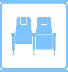 Cinema seats icon vector