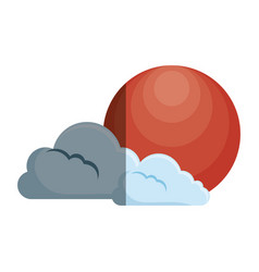 clouds and sun japanese vector image
