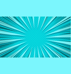 Comic dynamic explosive turquoise background vector