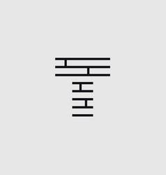 Construction letter t vector