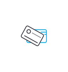 credit debit cards thin line stroke icon vector image
