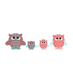 Cute cartoon owls vector image