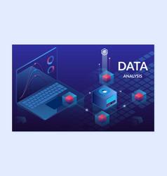 data analytics platform isometric vector image