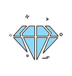 diamond icon design vector image
