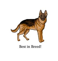 Dogs sketch german shepherd hand drawn vector