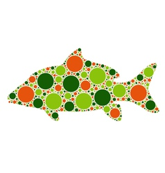 Dotted fish vector