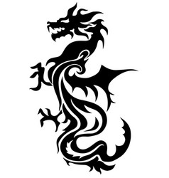 Dragon china zodiac symbols tattoo vector