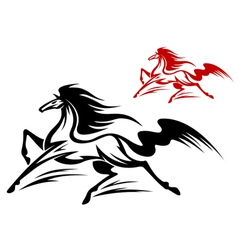 fast running stallion vector image