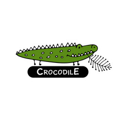 funny crocodile sketch for your design vector image