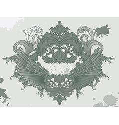 Grunge vintage floral vector