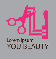 hair salon logo cosmetic salon logo design vector image