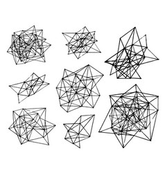 hand drawn sketch of abstract polygonal vector image