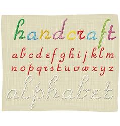 Handcraft alphabet - small letters vector