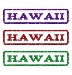 hawaii watermark stamp vector image