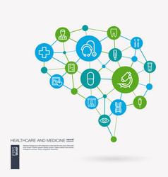 Healthcare psychology medicine and medical vector
