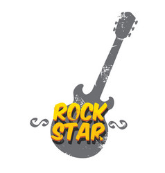 Hipster cartoon retro label rock star vector
