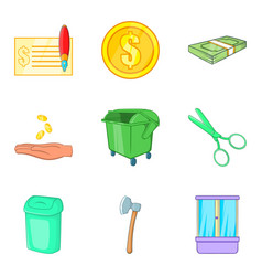 Home renovation icons set cartoon style vector