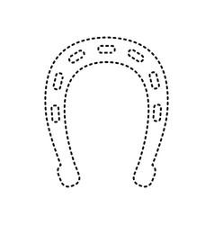 horseshoe sign black dashed vector image