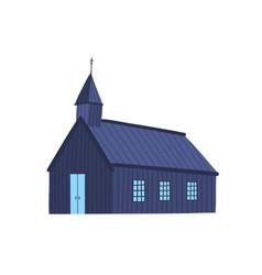 Icelandic church flat old vector