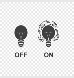 icons of the switched on and off light on vector image