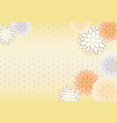 japanese new years card with chrysanthemum vector image