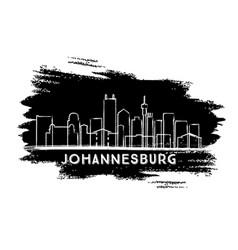 johannesburg south africa city skyline silhouette vector image