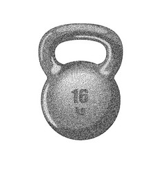 Kettlebell with handle vector