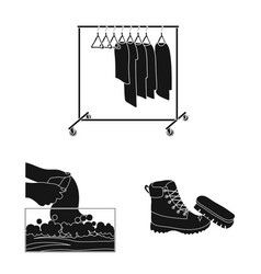 laundry and clean icon vector image