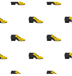 Male tango shoe pattern seamless vector