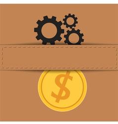 Material exchange to money vector image