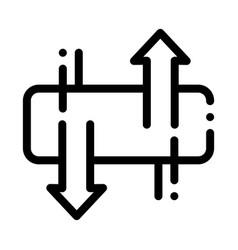 Mattress ventilation icon outline vector
