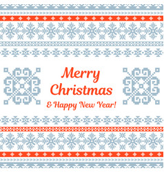 Merry christmas knitted background vector
