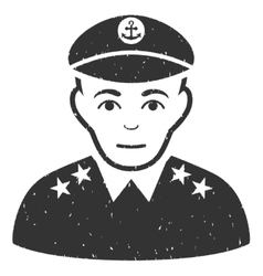 Military Captain Grainy Texture Icon vector