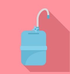 mobile water tank tap icon flat style vector image
