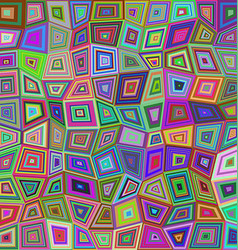 Multicolored rectangle tile mosaic background vector