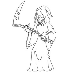 outlined grim reaper vector image