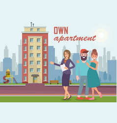 Own apartment flat vector