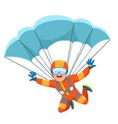 Parachute skydiver icon vector