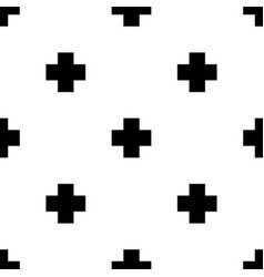 Seamless pattern with crosses in scandinavian vector