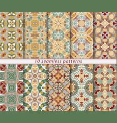 Set of seamless pattern vector