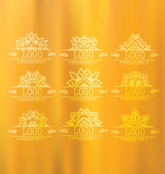 Set thai art design elements vector