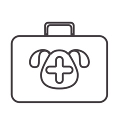 silhouette with briefcase first aid vet vector image