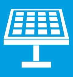 solar energy panel icon white vector image