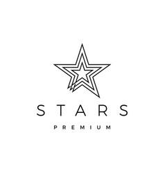 stars logo icon vector image