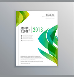 Stylish green magazine cover design template vector