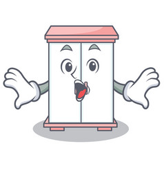 surprised cabinet character cartoon style vector image