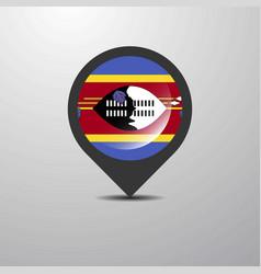 Swaziland map pin vector